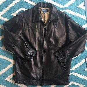 $650 Like New! Polo RL lambskin leather jacket